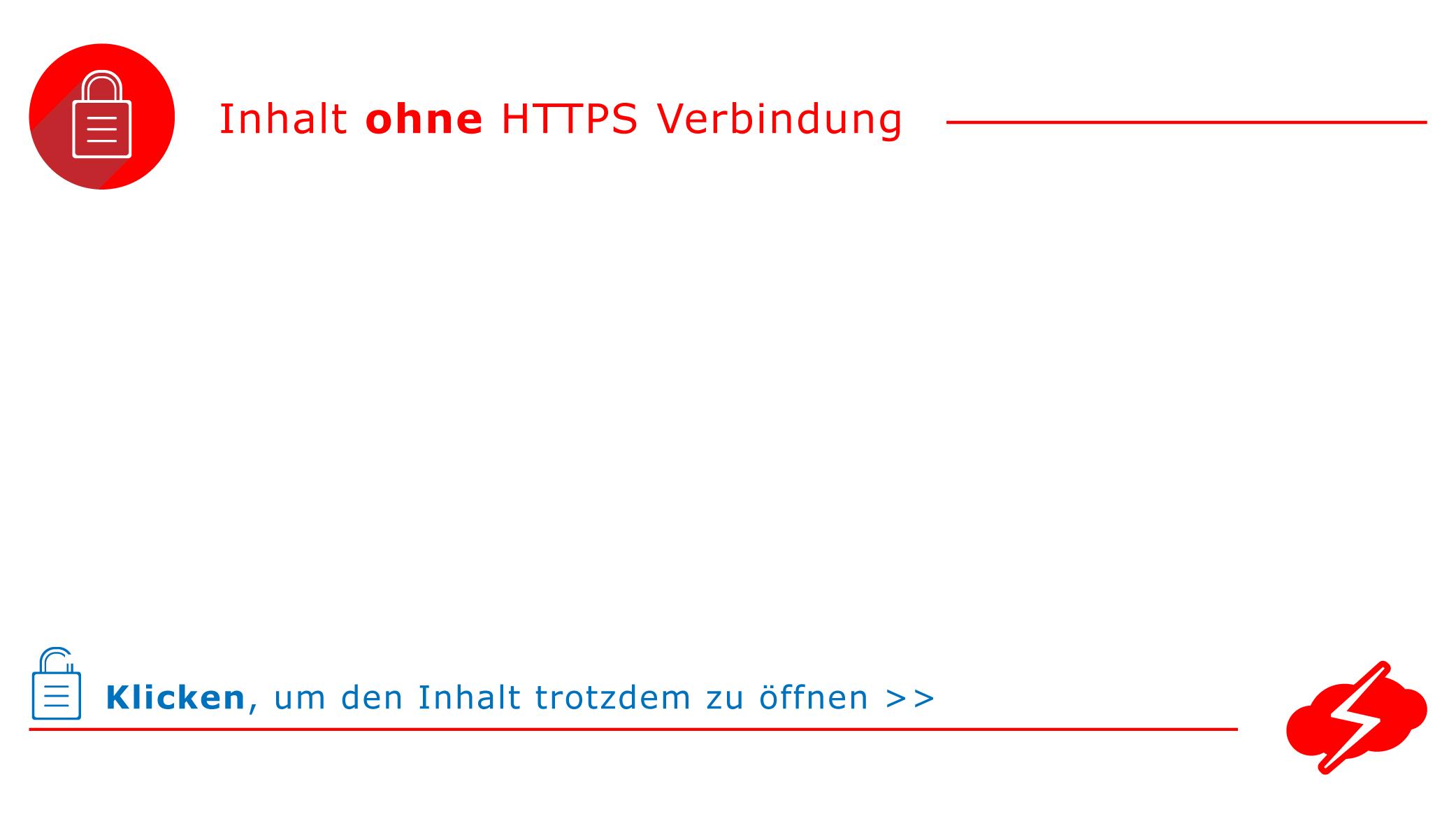 amp-iframe amphtml-Tag HTTPS-Verbindung